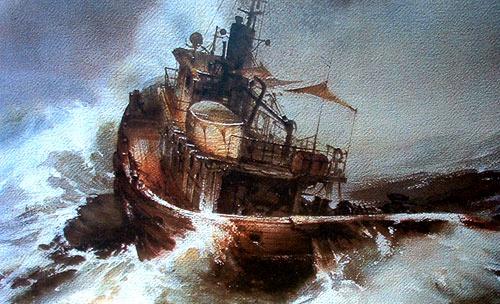 tempestad en el mar 1