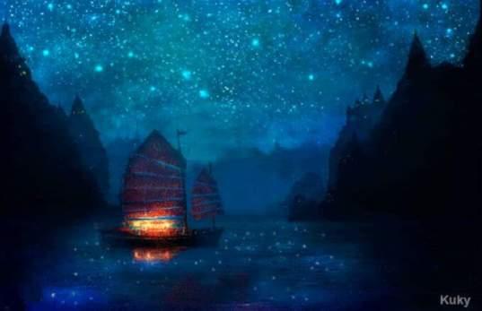 Barco en llamas