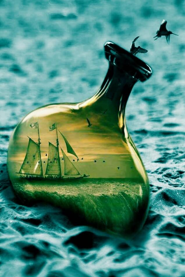 barco botella